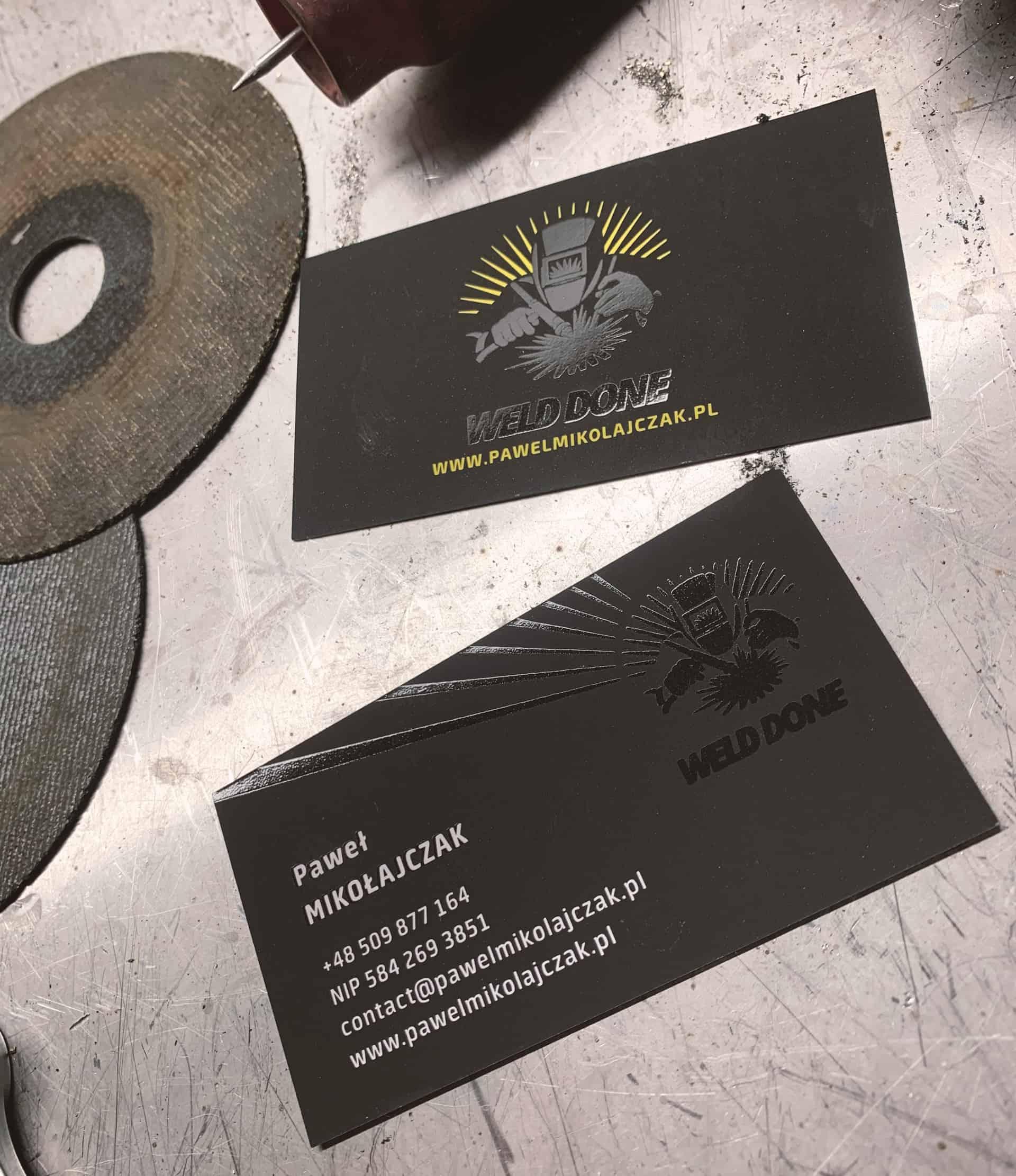 wizytówki firmowe z logo weld done