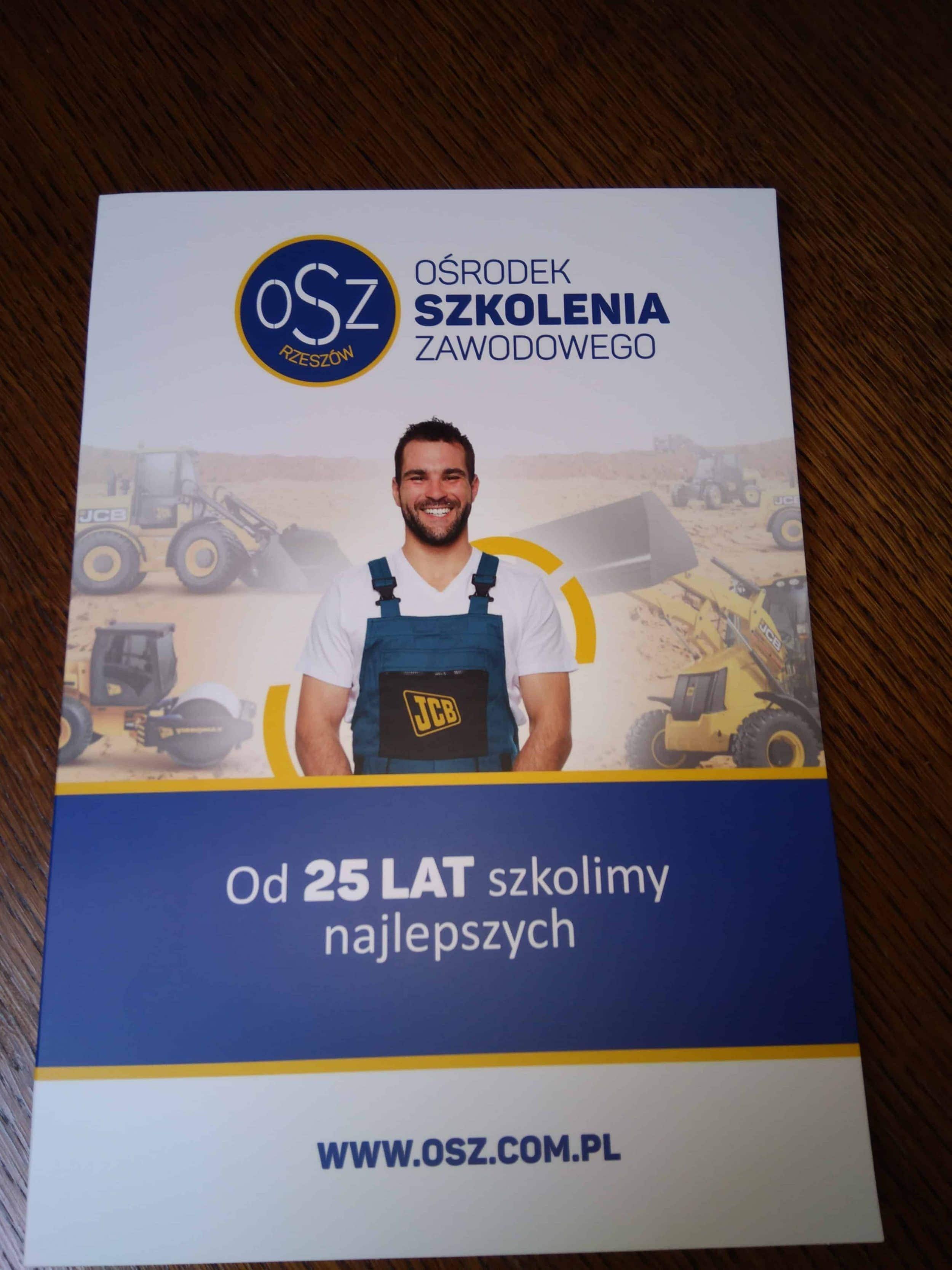 teczki reklamowe drukowane dla Ośrodka Szkolenia Zawodowego OSZ Rzeszów