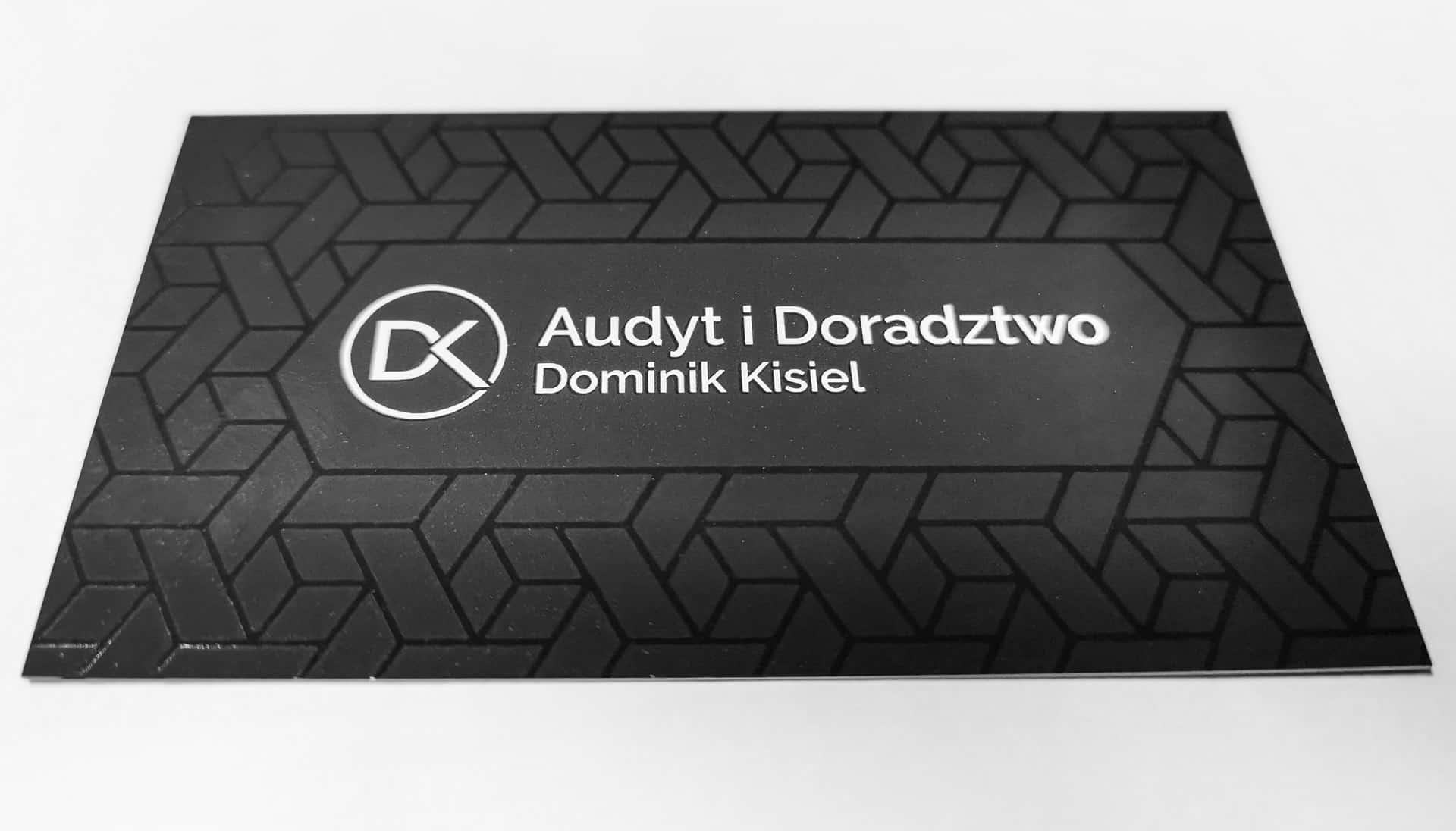 Wizytówki firmowe z logo Audyt i Doradztwo Dominik Kisiel