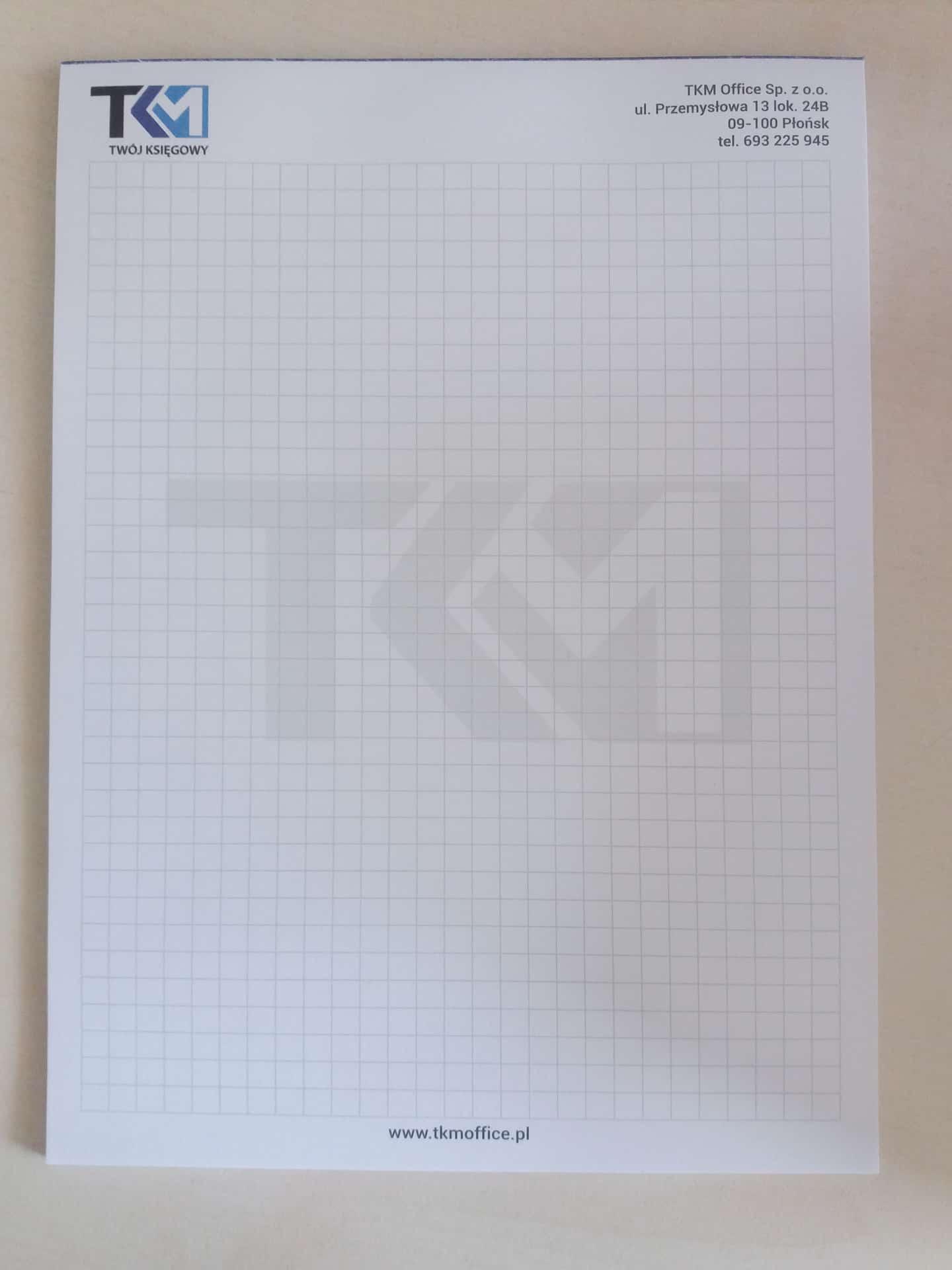 notesy reklamowe z logo TKM Office