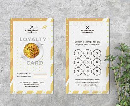 karta do zbierania punktow w restauracji