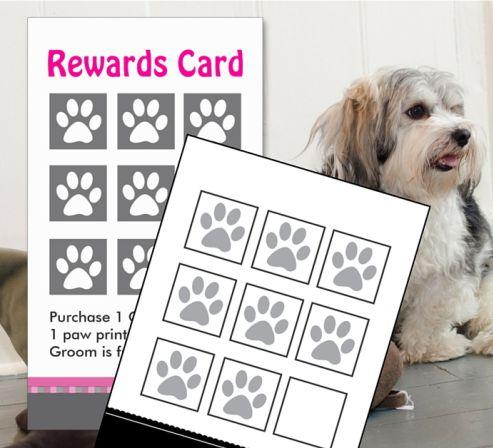 karta salonu fryzjerskiego dla psow