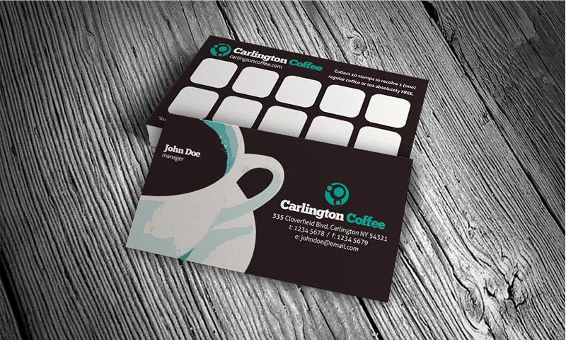 karta do zbierania punktow w kawiarni