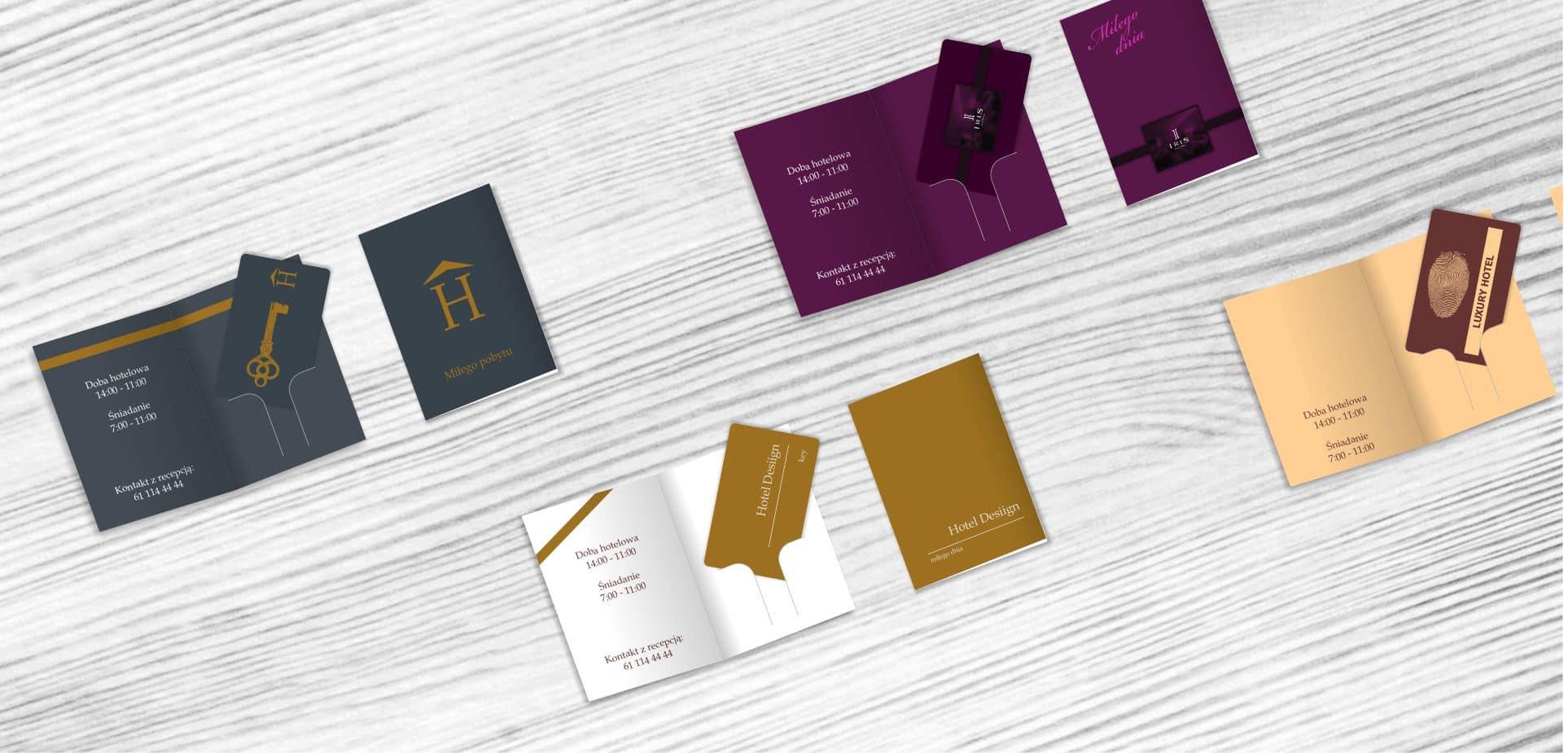 klucze hotelowe z personalizowanym etui
