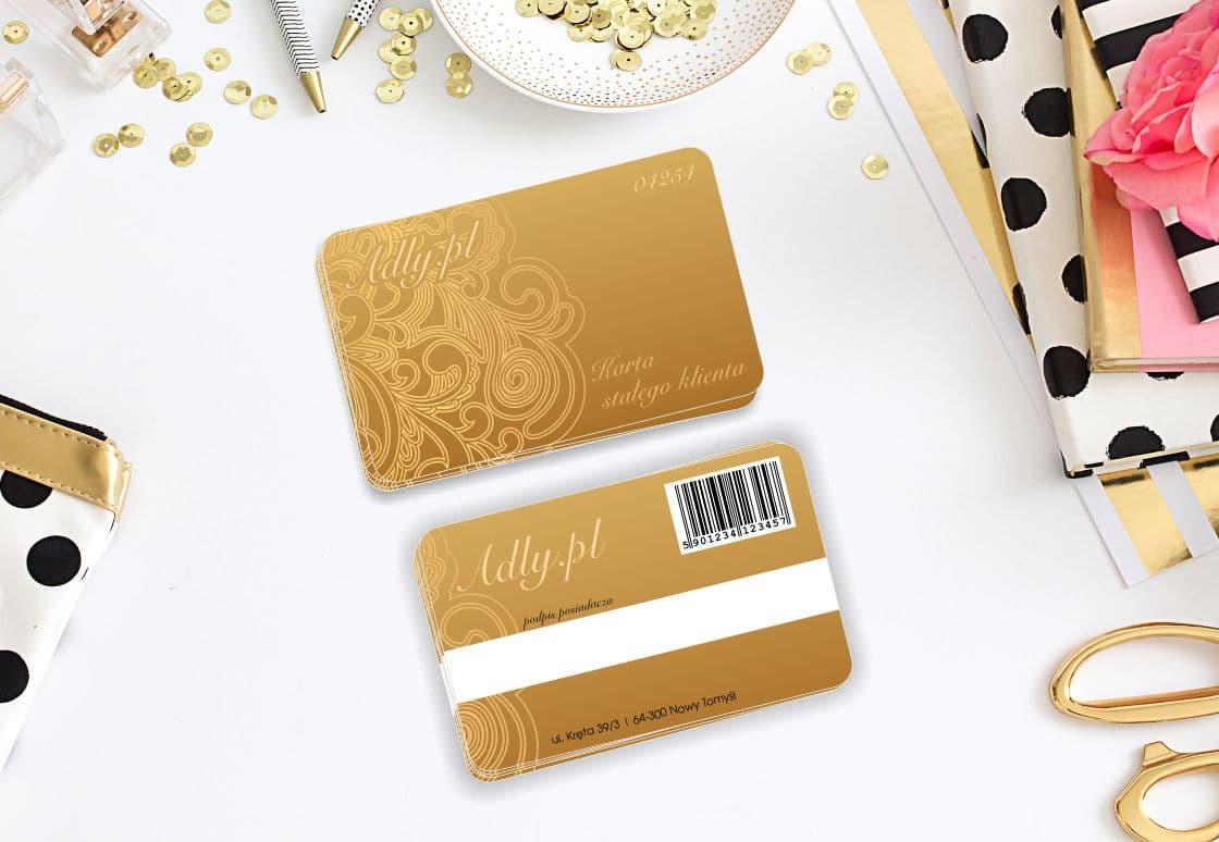 wizualizacja projektu złotej karty stałego klienta