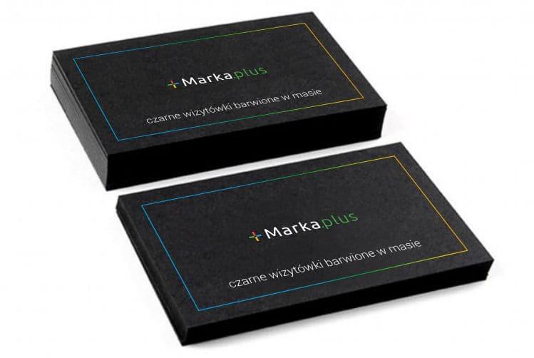 czarne wizytówki barwione w masie