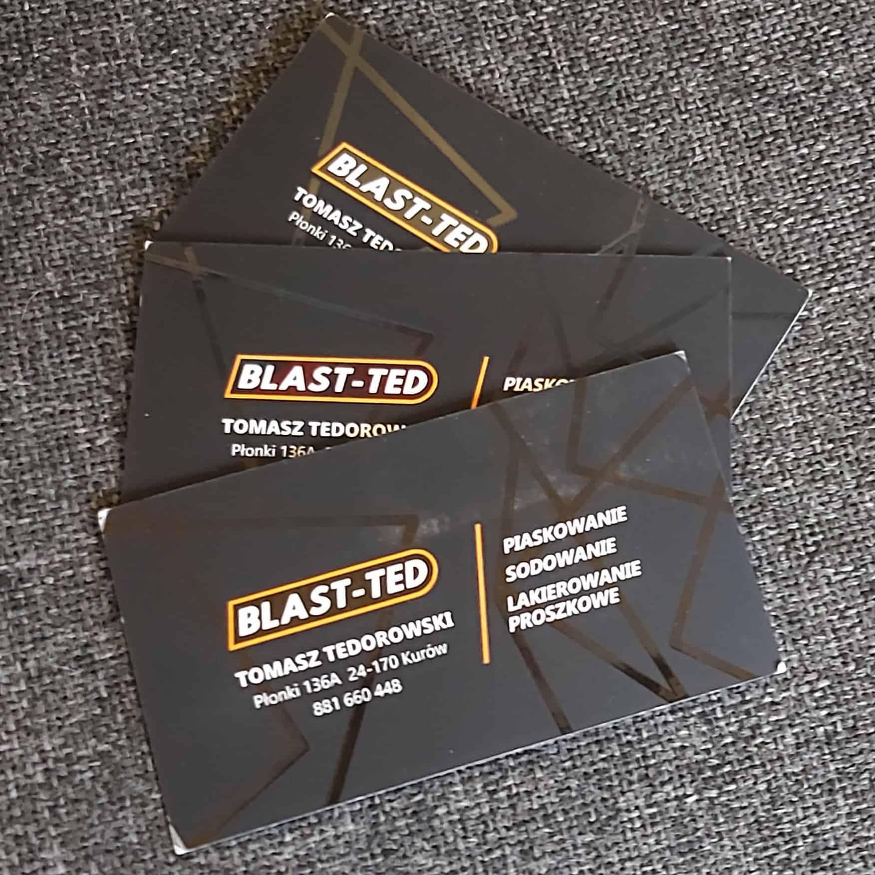 wizytówki firmowe z logo Blast-ted