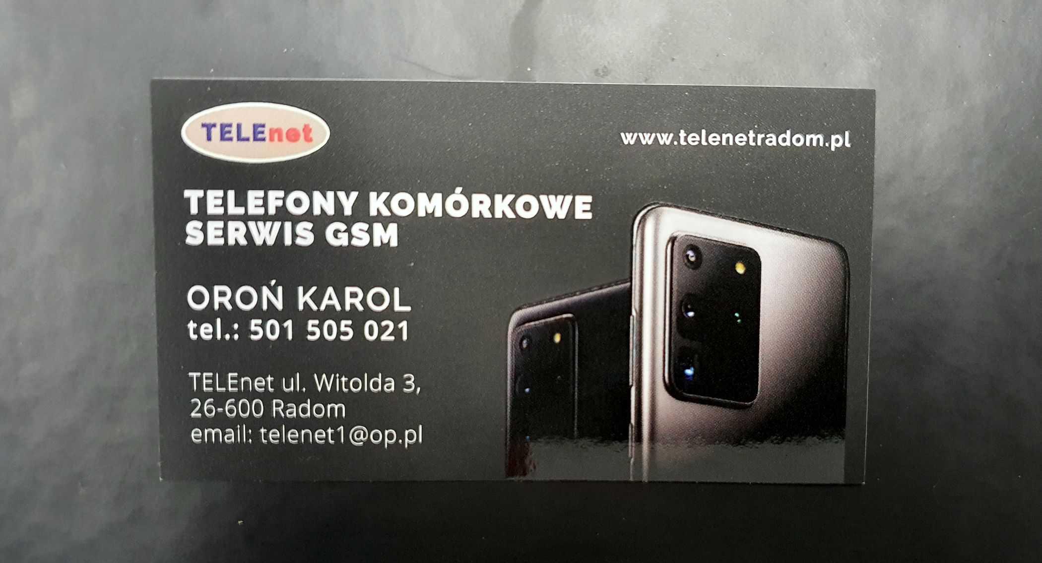 wizytówki dla Telenet