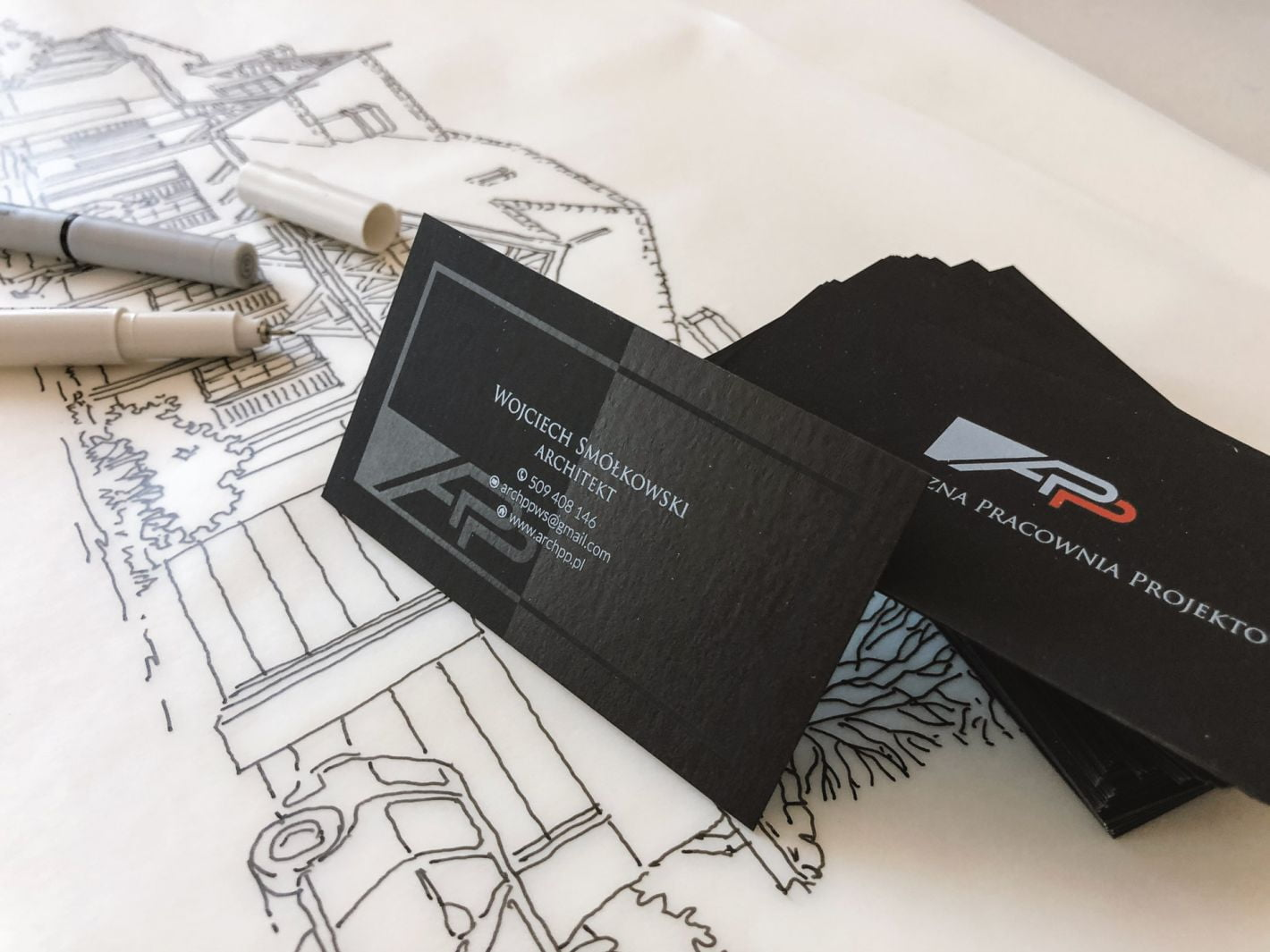 wizytówki barwione w masie dla Wojciech Smółkowski