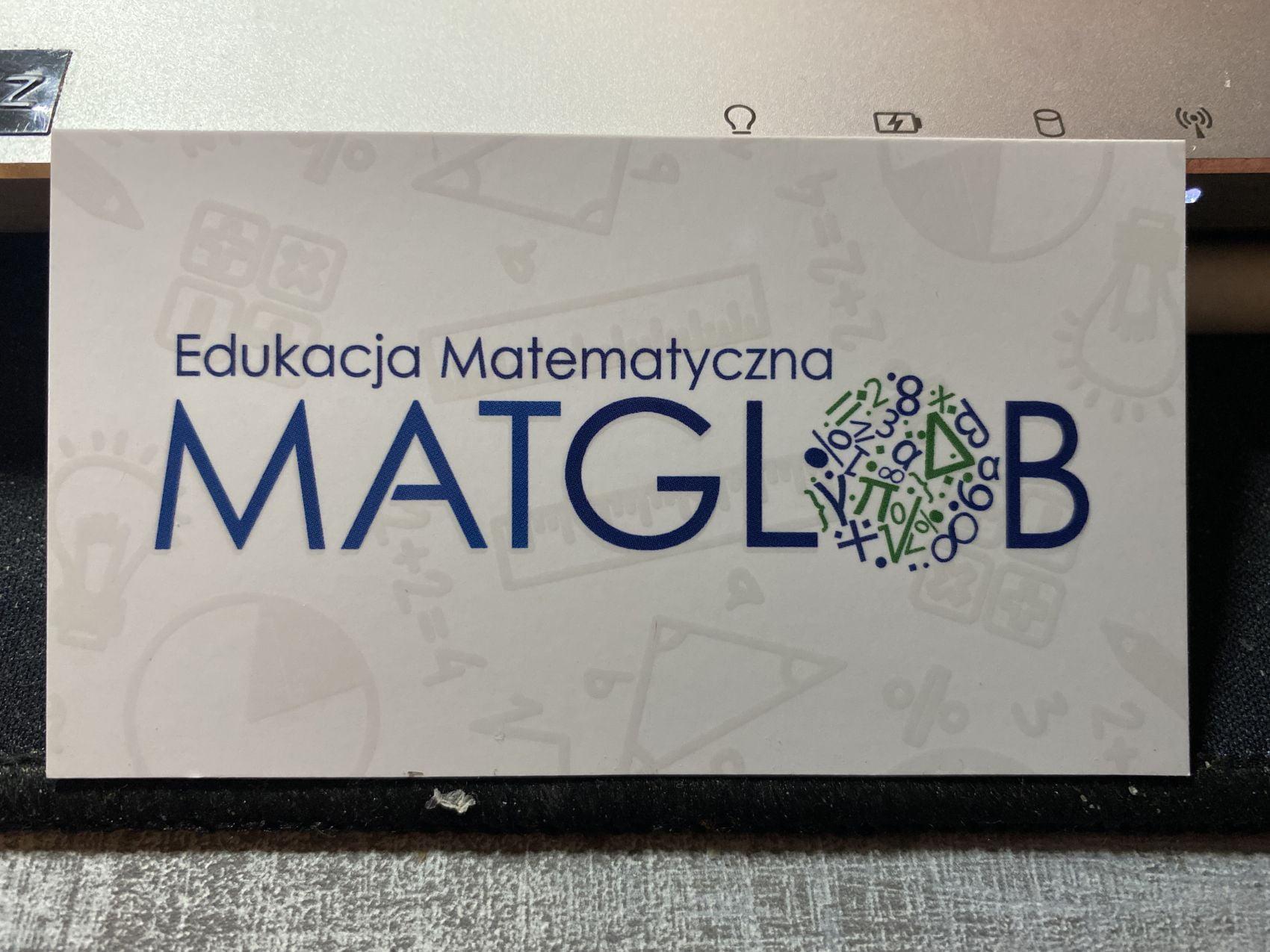 wizytówki z logo MATGLOB