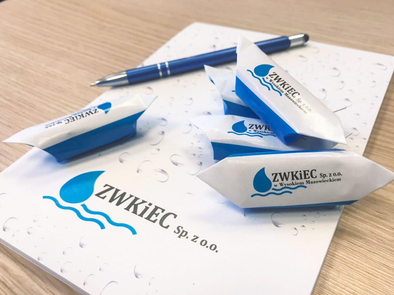 krówki reklamowe z logo ZWKiEC