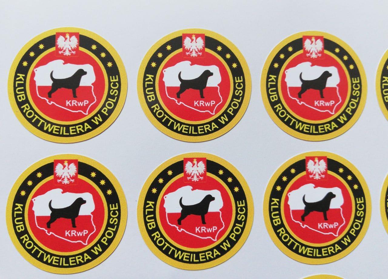 naklejki z logo dla Klub Rottweilera w Polsce