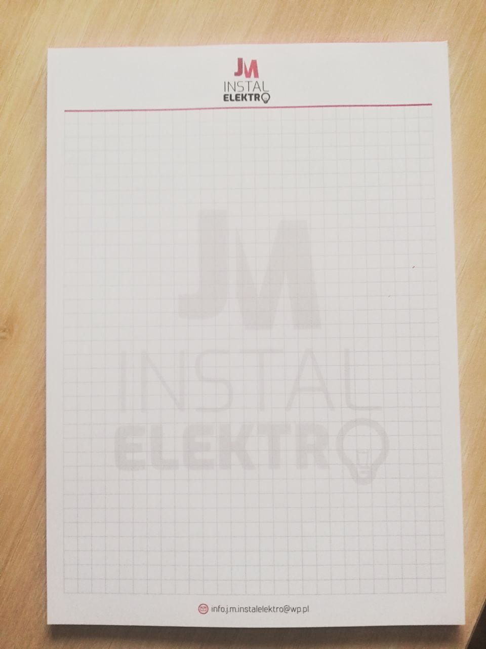 notesy z nadrukiem Instal Elektro