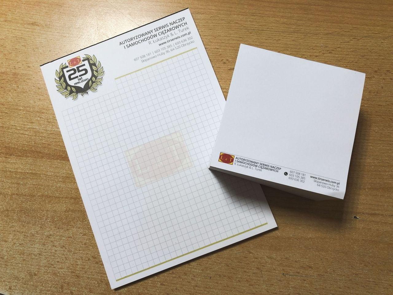 notesy reklamowe z logo Autoryzowany serwis naczepi samochodów cieżarowych Łukaszyk i Turek