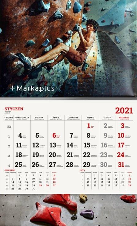 kalendarz jednodzielny z nadrukiem