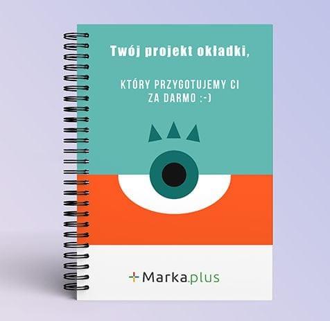 kalendarze książkowe na spirali z logo marka.plus