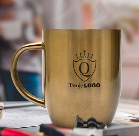kubki metalowe z logo