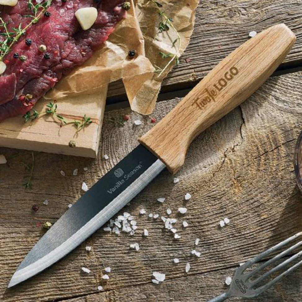 nóż ceramiczny z grawerem Twoje logo