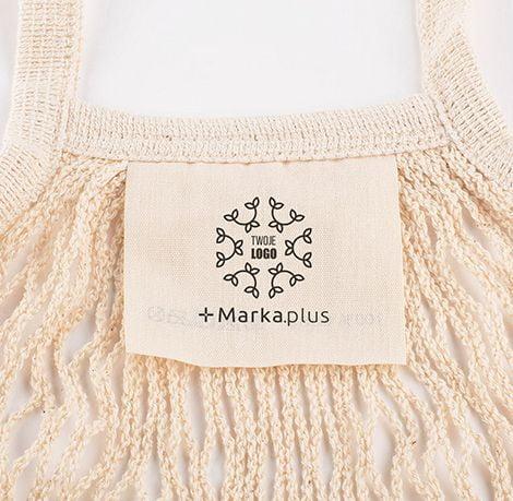 siatka na zakupy z logo Marka.plus