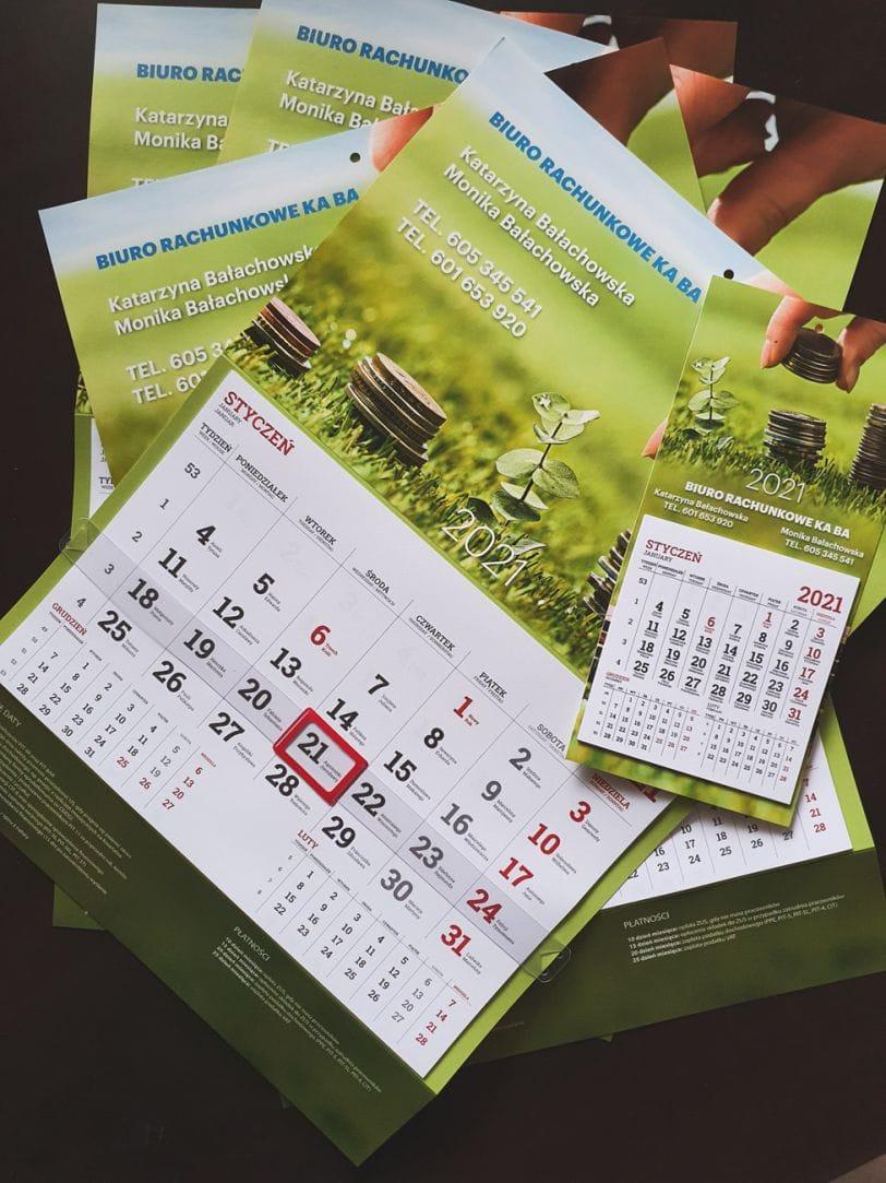 kalendarze z nadrukiem dla Biura Rachunkowego KABA