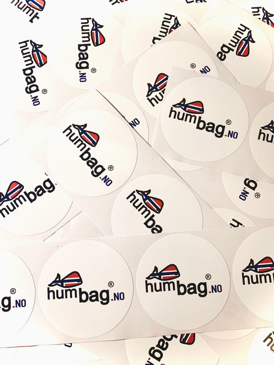 naklejki z nadrukiem logo humbag