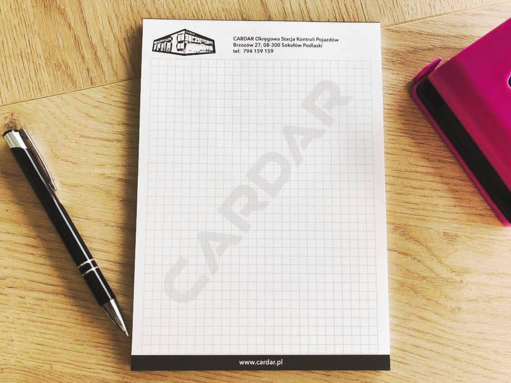 notesy reklamowe z logo CARDAR