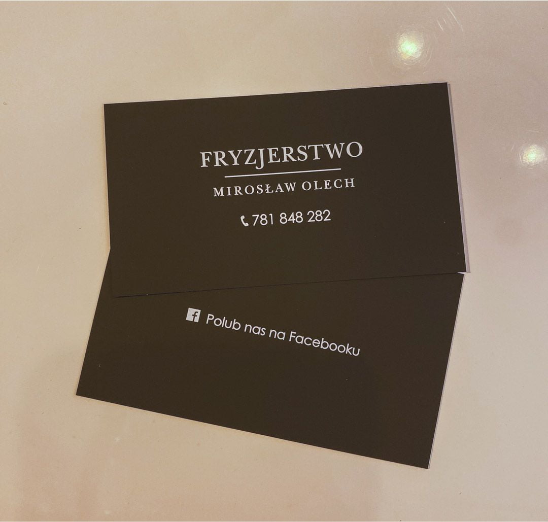 wizytówki Fryzjerstwo Mirosław Olech