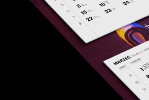kalendarz trójdzielny z kalendarium