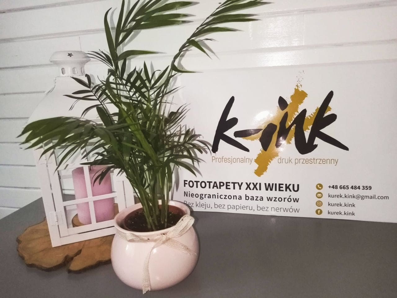 naklejka z logo k-ink