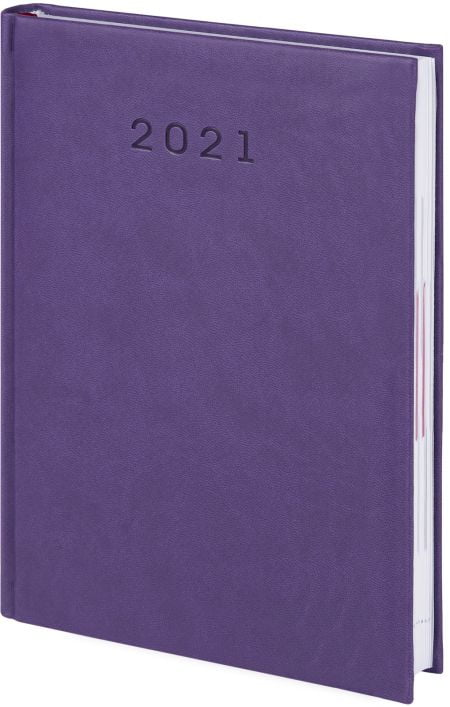 kalendarze książkowe 2021, kolor fioletowy
