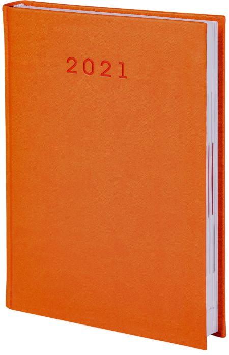 kalendarze książkowe 2021, kolor pomarańczowy