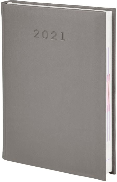 kalendarze książkowe 2021, kolor szary