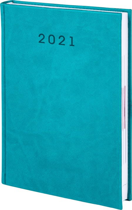 kalendarze książkowe 2021, kolor turkusowy
