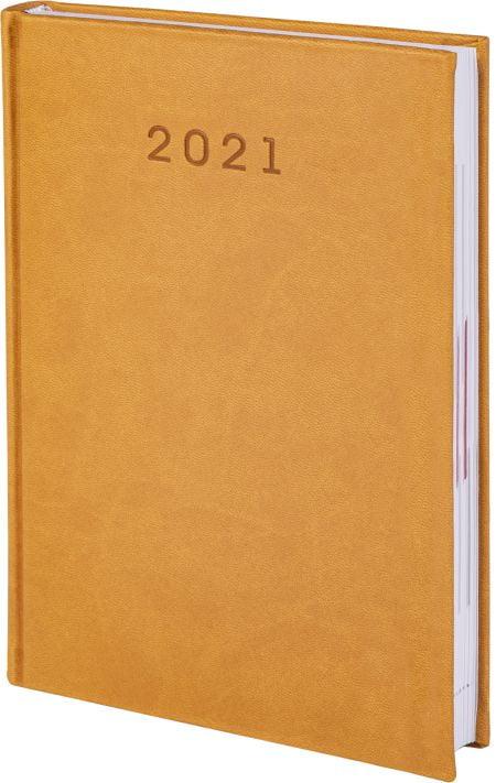 kalendarze książkowe 2021, kolor żółty