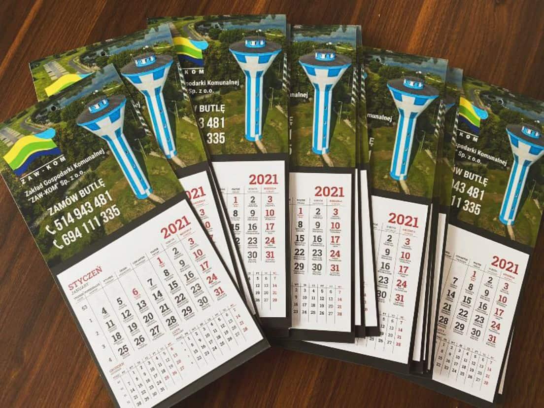 kalendarze na lodówkę z logo Zaw-Kom