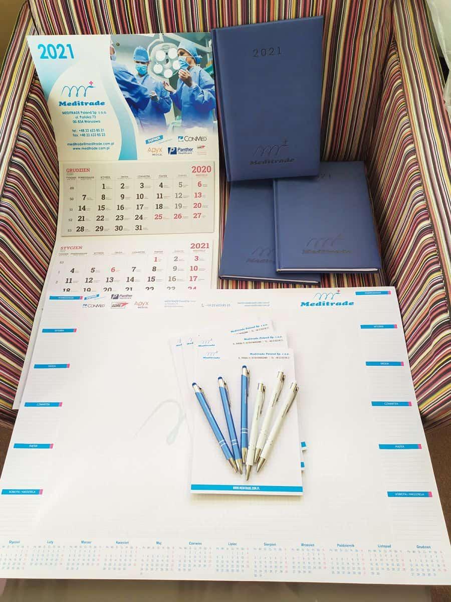 kalendarze dla firmy Meditrade