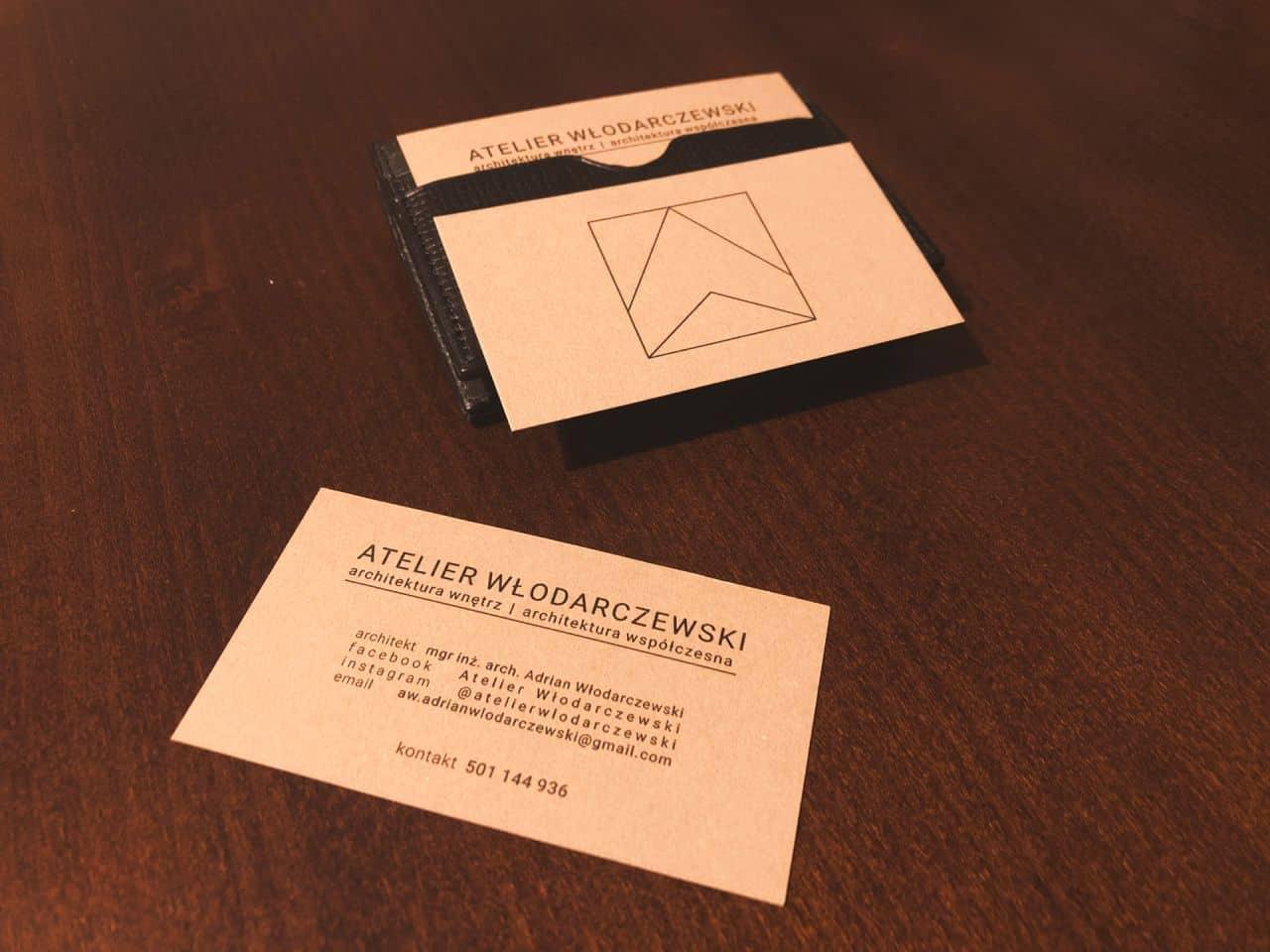 wizytówki dla firmy Atelier Włodarczewski