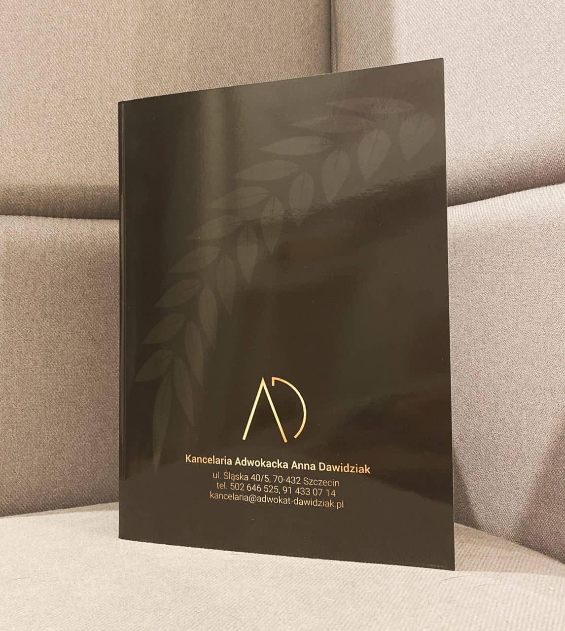 teczki dla kancelarii Adwokackiej Anna Dawidziak