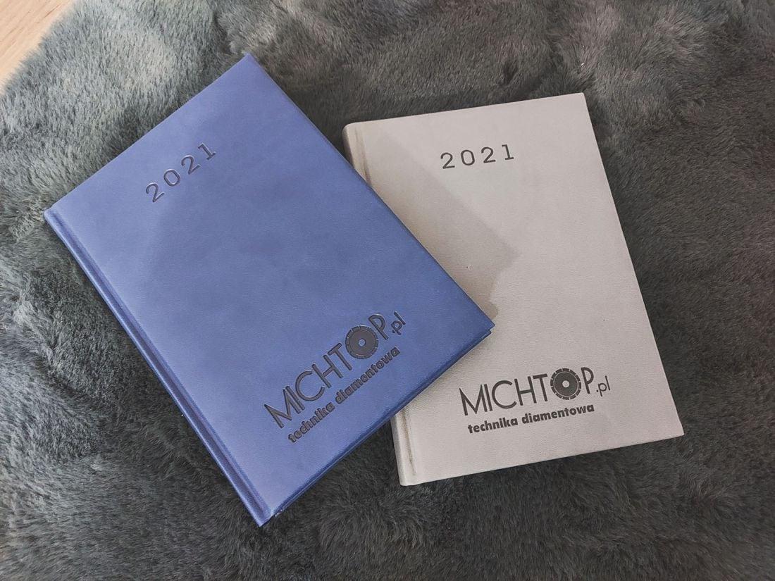 kalendarz książkowy 2021 z logo Michtop.pl