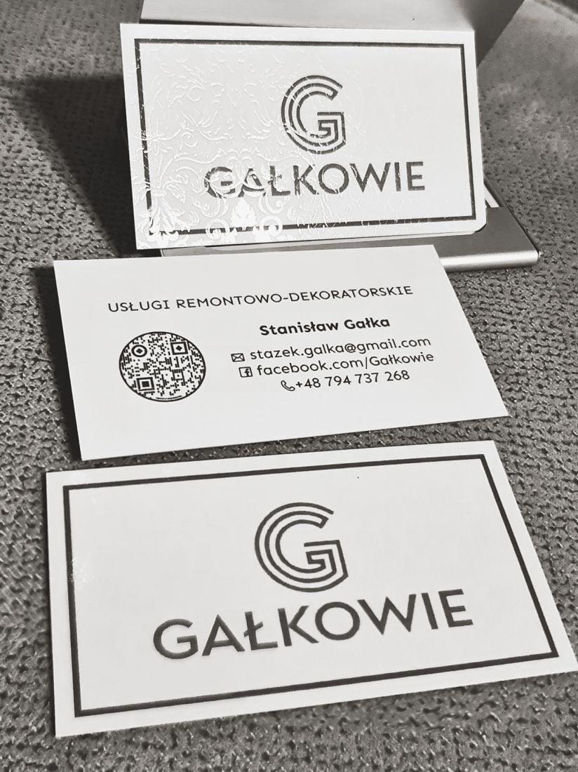 Wizytówki z logo GAŁKOWIE