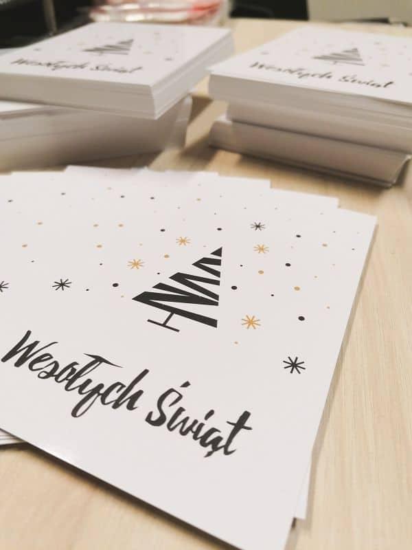 kartki świąteczne z nadrukiem