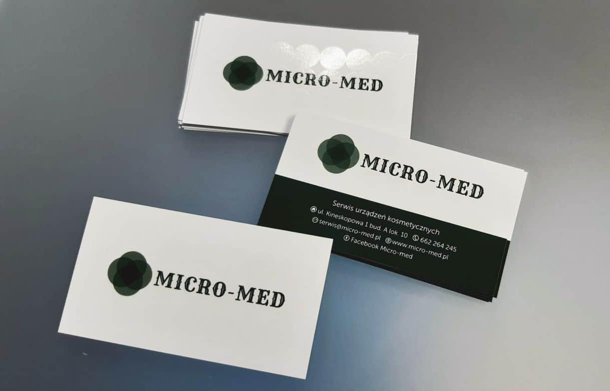 wizytówki dla Micro-Med