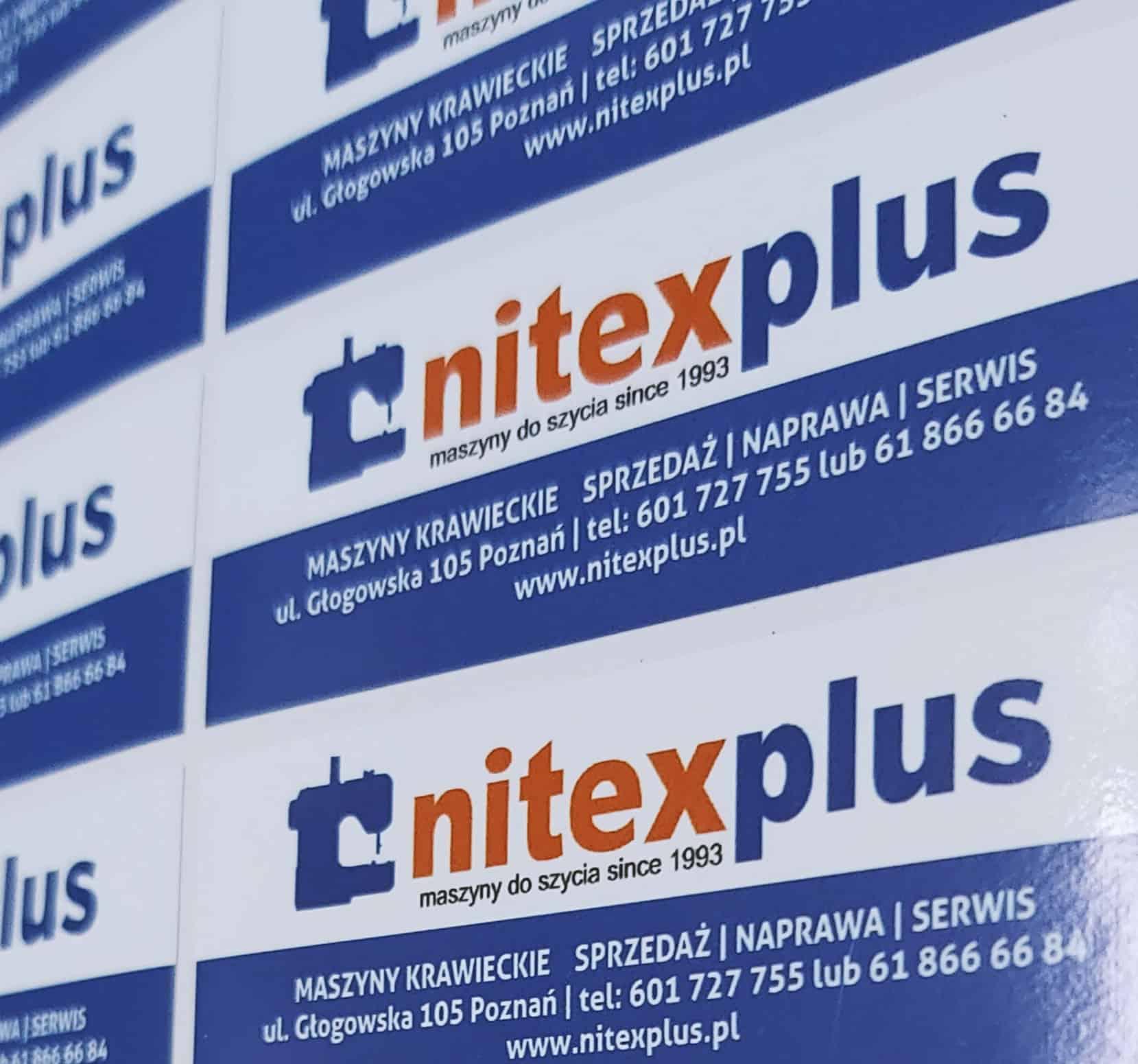 naklejki reklamowe z logo nitexplus