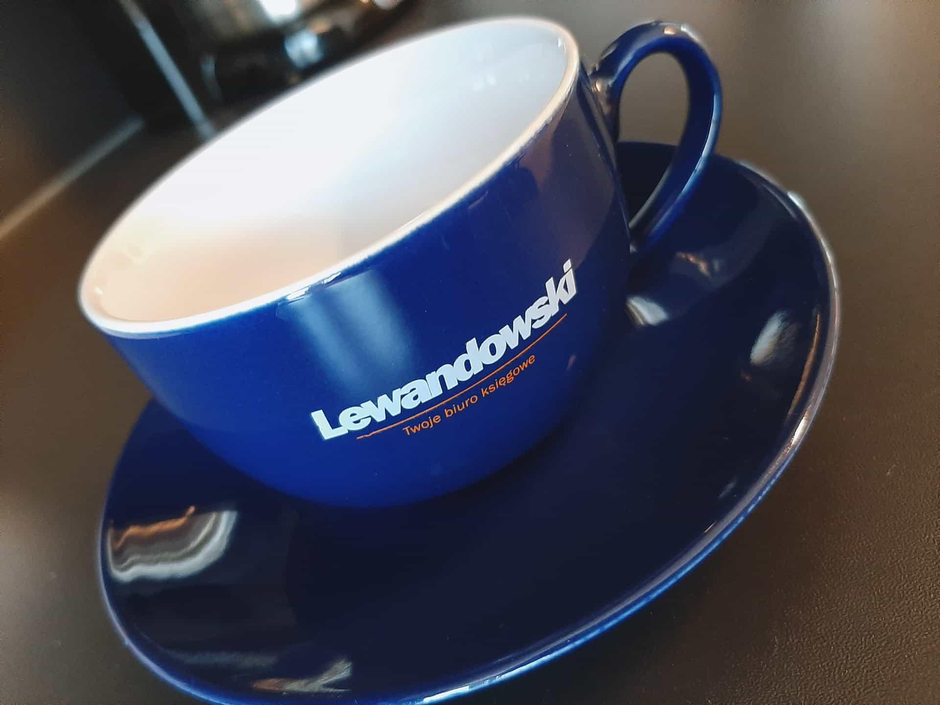 filiżanki reklamowe z logo Lewandowski