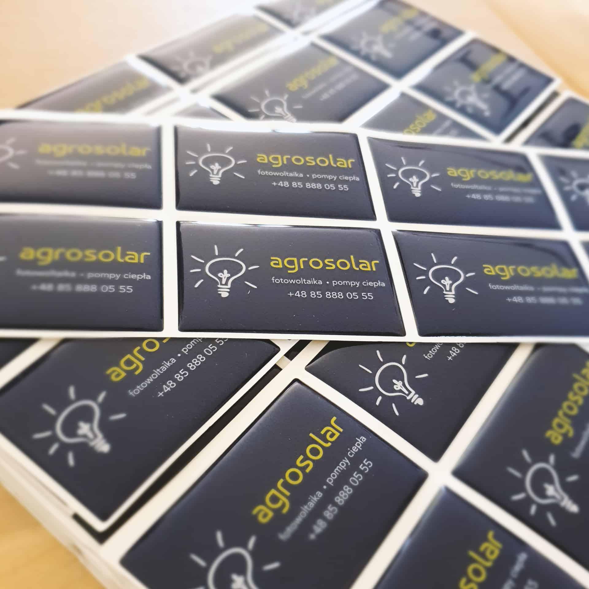 naklejki wypukłe z logo agrosolar