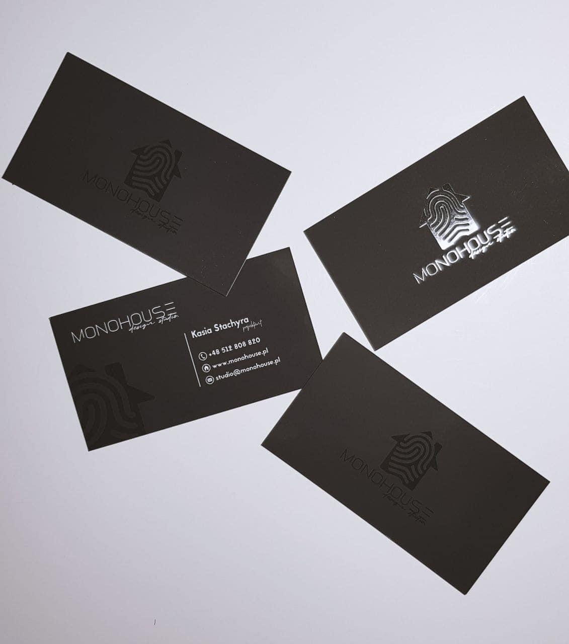 wizytówki firmowe z logo MONOHOUSE