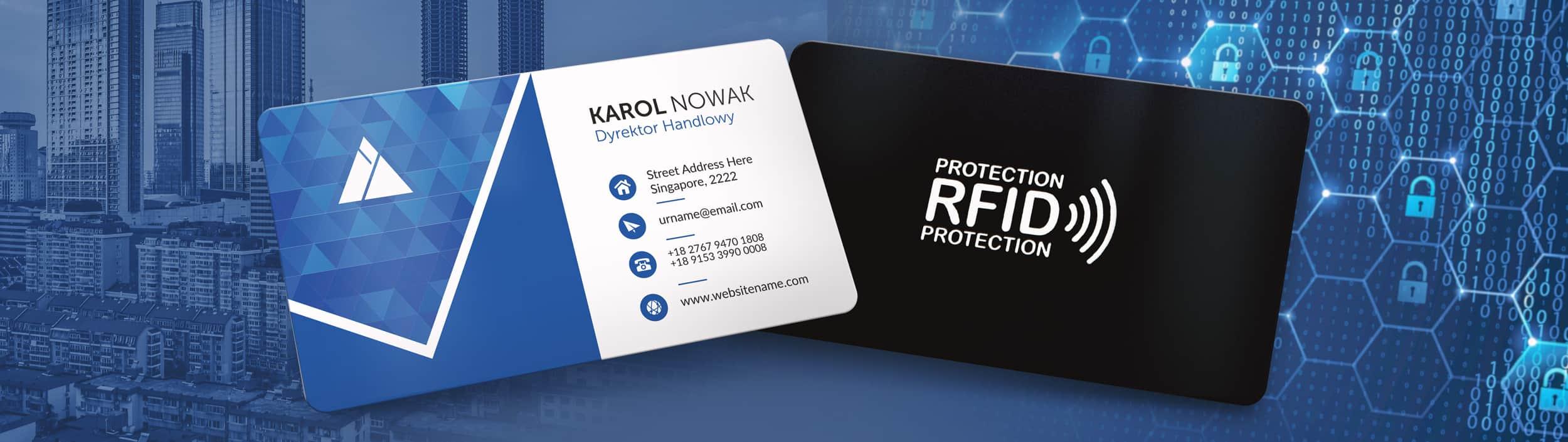 karty z blokadą RFID