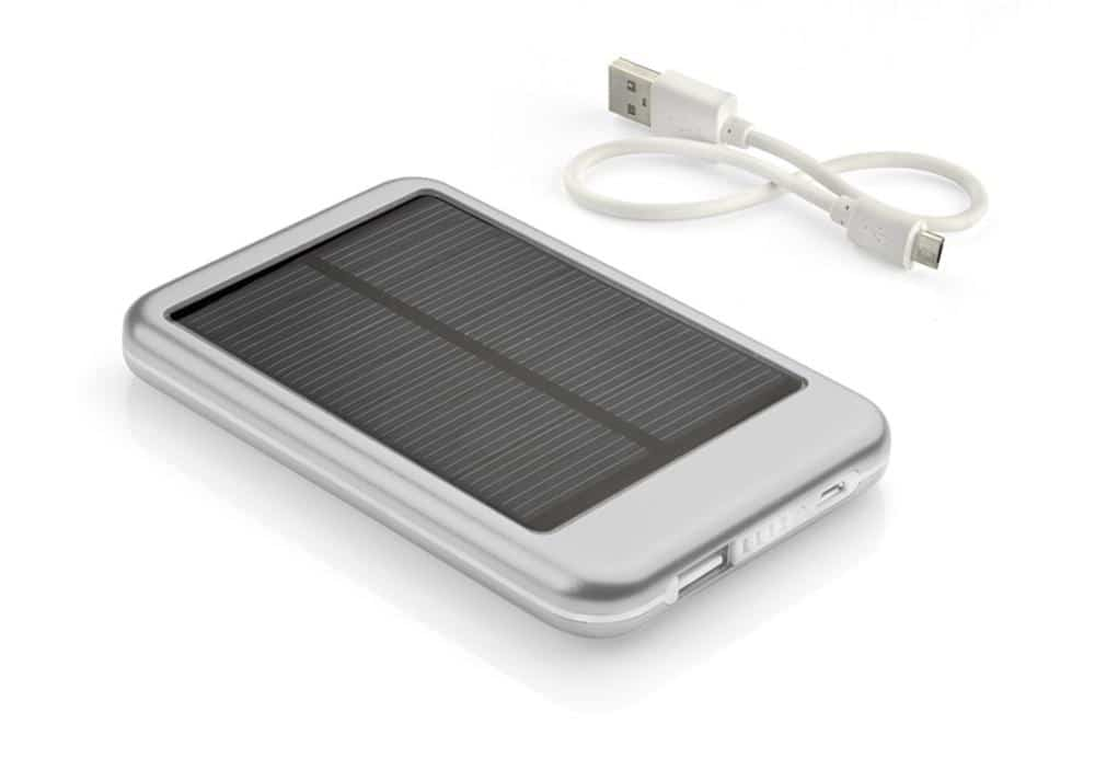 power bank solar + kabel usb