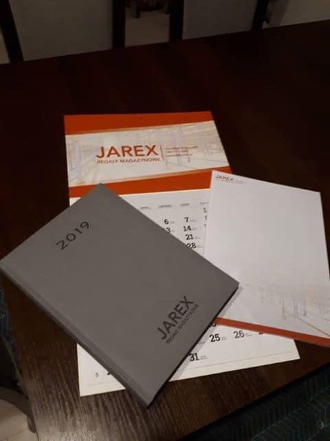 pakiet kalendarzy z logo Jarex