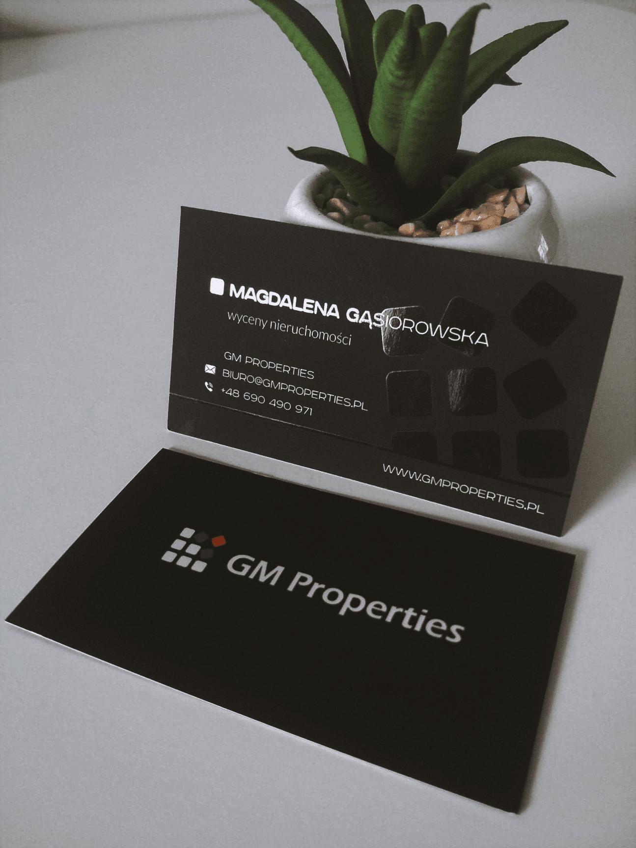 wizytówki dla GM properties